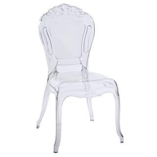 Chaise design NAPOLEON en polycarbonate transparent