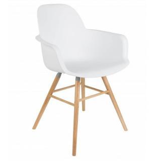 Chaise avec accoudoirs design scandinave ALBERT KUIP blanche