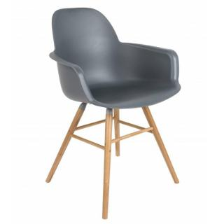 Chaise avec accoudoirs design scandinave ALBERT KUIP graphite