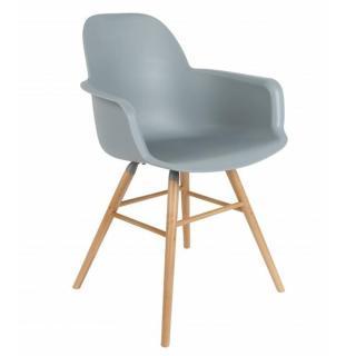Chaise avec accoudoirs design scandinave ALBERT KUIP grise