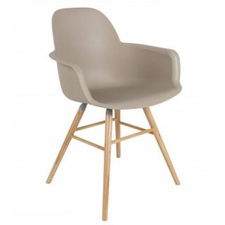 Chaise avec accoudoirs design scandinave ALBERT KUIP taupe