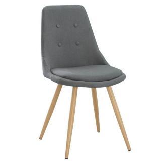 Chaise design scandinave MIDGARD tissu gris graphite