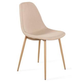 Chaise STOCKHOLM design tissu beige