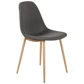 Chaise STOCKHOLM design scandinave tissu graphite