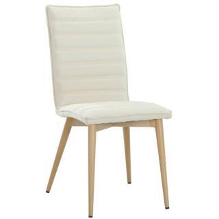 Chaise design scandinave UTGARD tissu beige