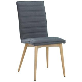 Chaise design scandinave UTGARD tissu graphite