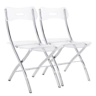 Lot de 2 chaises pliantes WIDOW en polycarbonate transparent