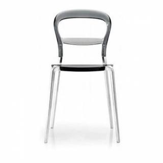 Chaise design ergonomique et stylis e au meilleur prix for Chaise grise transparente