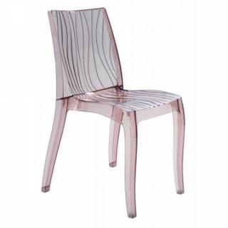Chaise design DUNE en plexiglas champagne transparent de fabrication Italienne