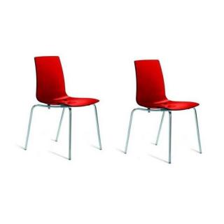 Lot de 2 chaises empilables LOLLIPOP transparentes