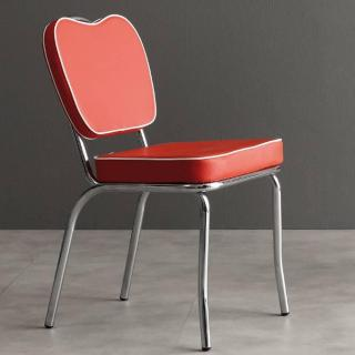 Chaise sixties HAPPY DAYS rouge