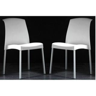 Lot de 2 chaises JANE design blanc