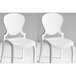 Lot de 2 chaises design LIGHT en plexiglas blanche