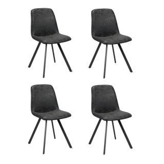 Lot de 4 chaises design MARC polyuréthane noir