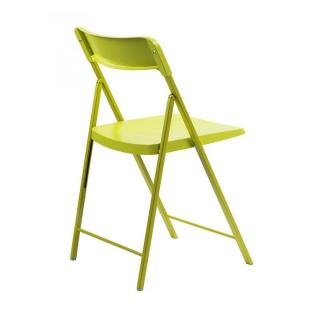 Lot de 2 chaises pliantes KULLY en plastique verte