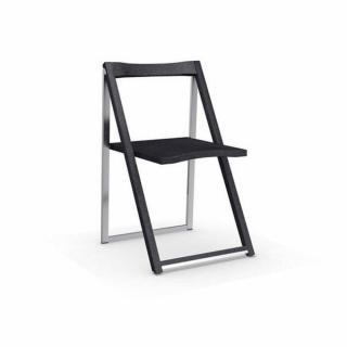 Chaise pliante SKIP graphite et aluminium satiné