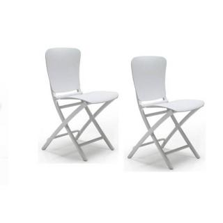 Lot de 2 chaises pliante ZAK design blanc
