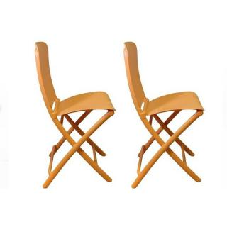 Lot de 2 chaises pliante ZAK design orange