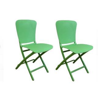 Lot de 2 chaises pliantes ZAK design vert