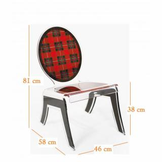 chaise design ergonomique et stylis e au meilleur prix chaise basse relax ecossaise rouge plexi. Black Bedroom Furniture Sets. Home Design Ideas