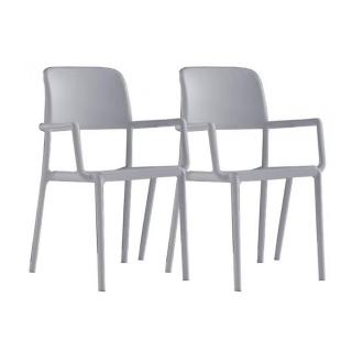 Lot de 2 chaises RIVER B empilables blanches