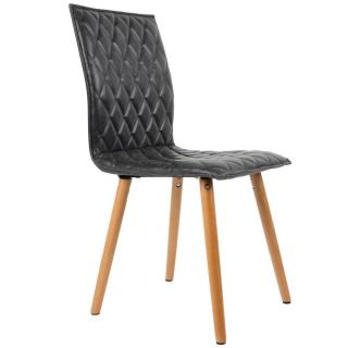 Chaise DANY design scandinave graphite