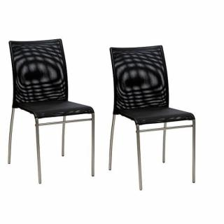Lot de 2 chaises MATRIX design noir