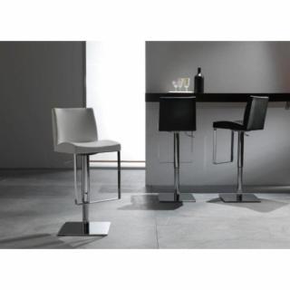 Chaise de bar MAXIM design blanche