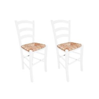 Lot de 2 chaises PAESANA assise en paille