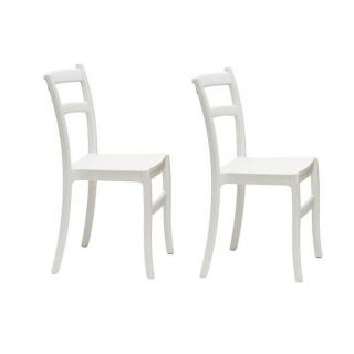 Lot de 2 chaises VENEZIA design blanc