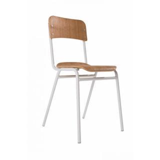 Chaise design ergonomique et stylis e au meilleur prix for Chaise bois et blanc