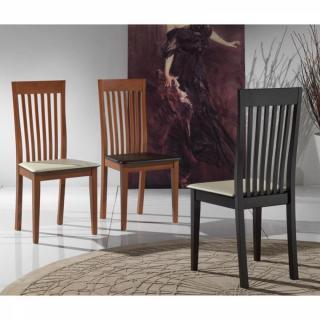 chaise design ergonomique et stylis e au meilleur prix chaise tema merisier assise en cuir brun. Black Bedroom Furniture Sets. Home Design Ideas