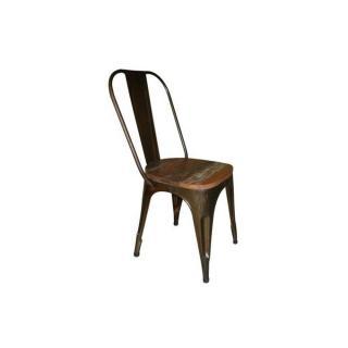Chaise vintage ANNATA en acier vieilli