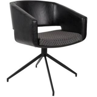 ZUIVER Chaise  BEAU polyuréthane façon cuir noir