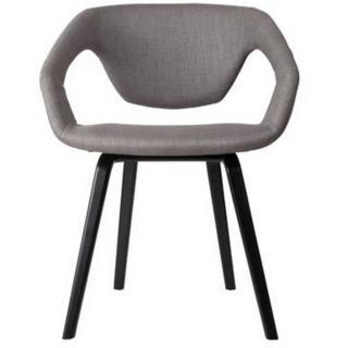 ZUIVER Chaise  FLEX BACK gris silex piétement noir