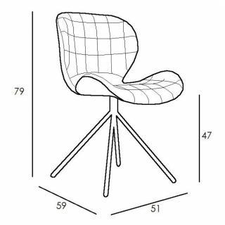 chaise design ergonomique et stylis e au meilleur prix zuiver chaise omg camel inside75. Black Bedroom Furniture Sets. Home Design Ideas