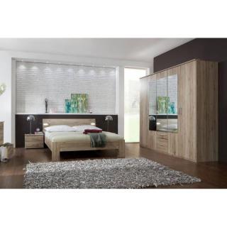 Chambre à coucher DAKOTA 180*200cm chêne avec éclairages Led