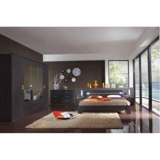 Chambre à coucher DAKOTA 180*200cm lave avec éclairages Led
