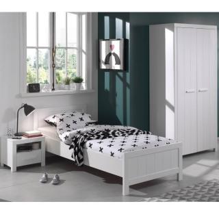 Ensemble chambre à coucher 3 éléments ANTONIN blanc
