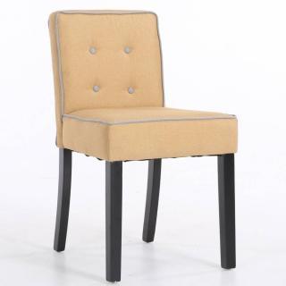 Chaise design contemporain CHARLEMAGNE tissu lin jaune