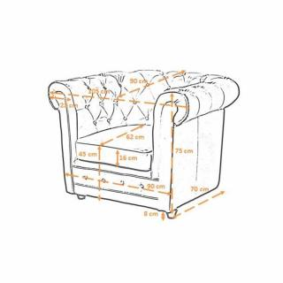 Canapé Chesterfield en cuir & velour au meilleur prix Fauteuil