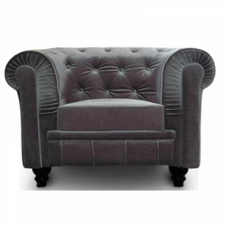 canap chesterfield en cuir velour au meilleur prix fauteuil fixe chesterfield royal en. Black Bedroom Furniture Sets. Home Design Ideas
