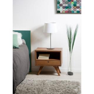 chevets meubles et rangements chevet design fancy 1 tiroir en mindi style scandinave inside75. Black Bedroom Furniture Sets. Home Design Ideas