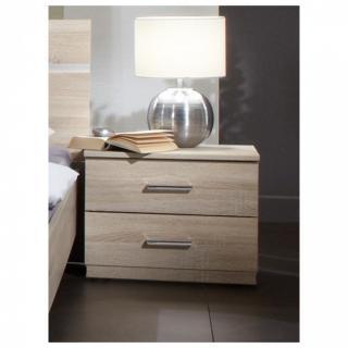 Chevet 2 tiroirs CARAMELLA décor finition chêne