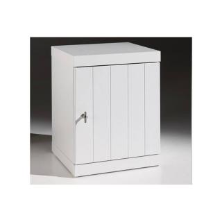 Chevet HYDRUS design blanc 1 porte