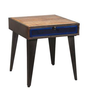Chevet MICHIGAN en bois de palissandre avec tiroir réversible