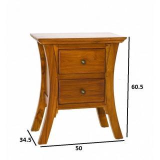 chevets meubles et rangements chevet japonais api 2 tiroirs en teck style colonial inside75. Black Bedroom Furniture Sets. Home Design Ideas