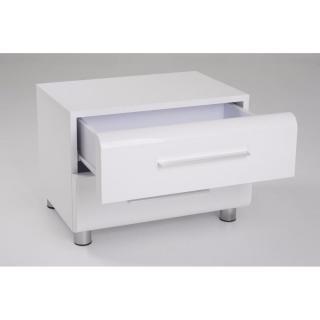 canap s convertibles ouverture rapido chevet 2 tiroirs sakura blanc brillant inside75. Black Bedroom Furniture Sets. Home Design Ideas