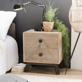 Chevet scandinave 2 Tiroirs MANDY