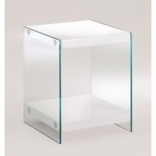 Bout de canapé CORINE  en verre